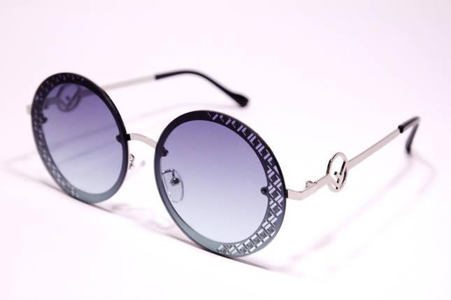 Жіночі сонцезахисні круглі окуляри Фенді 2078 C репліка, фото 2