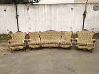 Мягкая часть в стиле барокко угловой диван два кресла и столик журнальный б/у