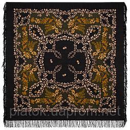 Рябина 352-21, павлопосадский платок шерстяной  с шерстяной бахромой