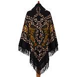 Рябина 352-21, павлопосадский платок шерстяной  с шерстяной бахромой, фото 2