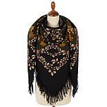 Рябина 352-21, павлопосадский платок шерстяной  с шерстяной бахромой, фото 3