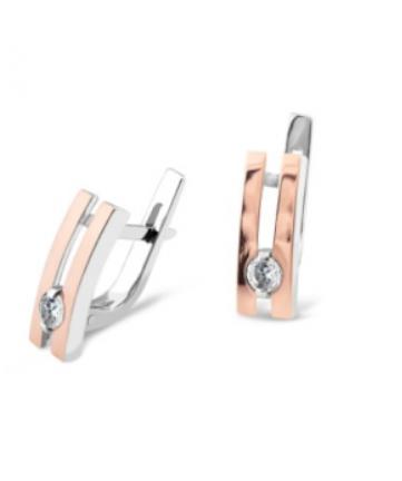 Срібні сережки з золотом Аста
