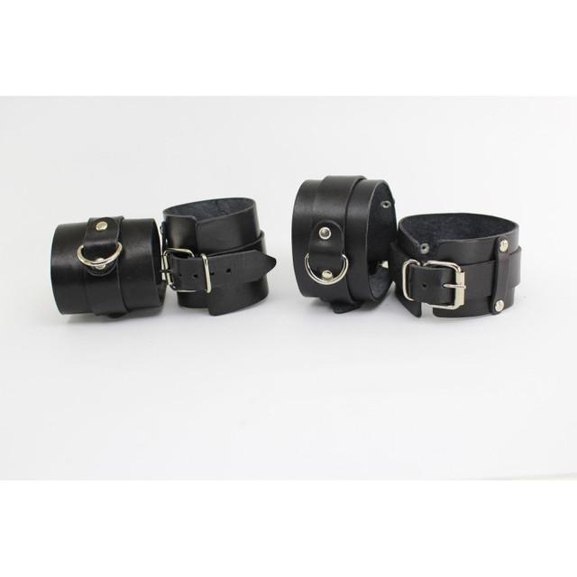 BDSM БДСМ набор бондаж наручники поножи натуральная кожа из натуральной кожи кожаные