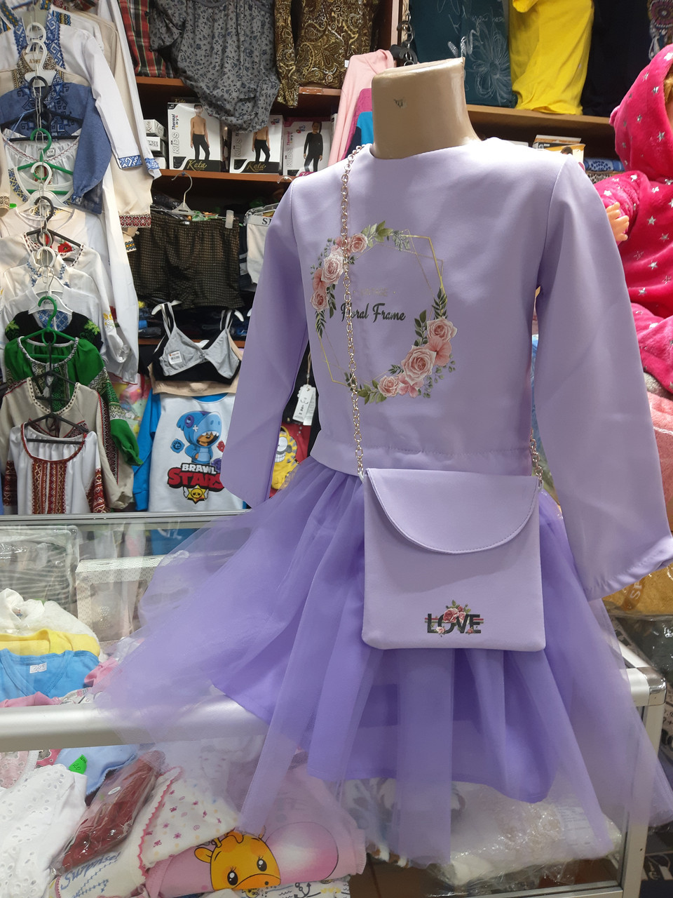Дитяче плаття з сумочкою р. 104-122
