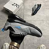 Nike Air Max 270 Cool Grey Blue Fury (Серый), фото 5