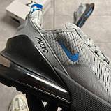 Nike Air Max 270 Cool Grey Blue Fury (Серый), фото 7
