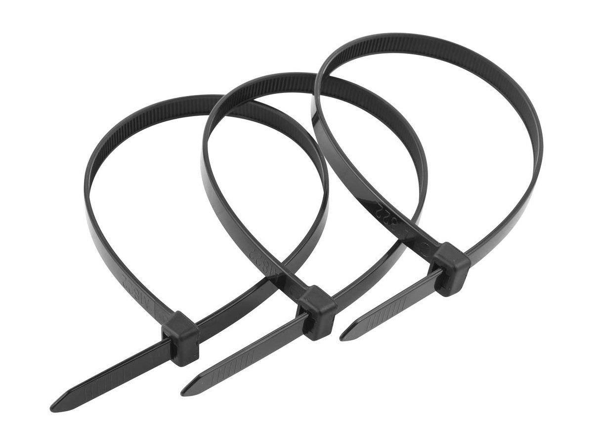 Хомуты пластиковые черные 100*2,5мм 100шт (45540)