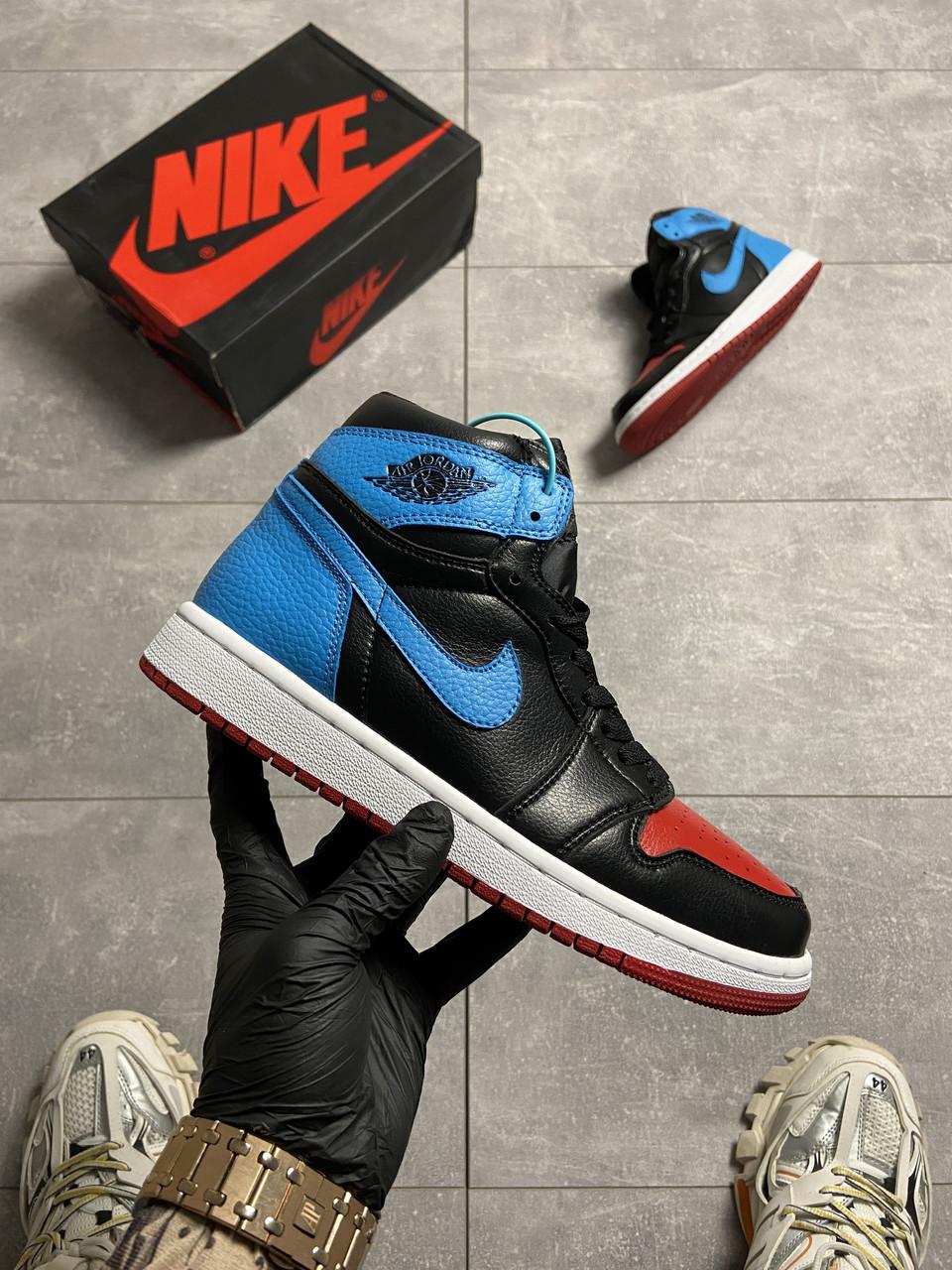 Nike Air Jordan 1 Retro High NC to Chicago (Чорний Синій)