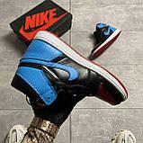 Nike Air Jordan 1 Retro High NC to Chicago (Чорний Синій), фото 6