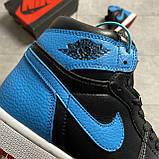 Nike Air Jordan 1 Retro High NC to Chicago (Чорний Синій), фото 7