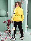 Женский спортивный костюм из двунитки батал 47-6320, фото 2
