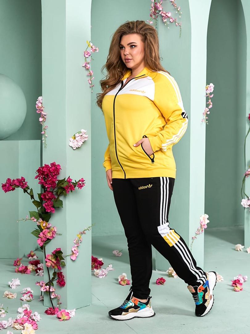 Женский спортивный костюм из двунитки батал 47-6320
