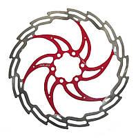 Ротор XLC BR-X02, 180 мм, серебристо-красный (ST)