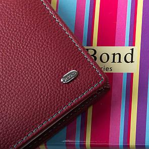 Гаманець жіночий шкіряний бордовий маленький Dr. Bond Rainbow WRS-6, фото 2