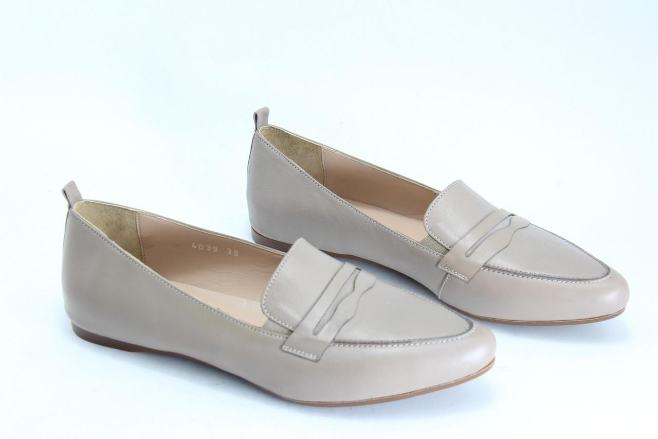 Туфлі лофери жіночі BURC 4039-vizon