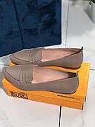 Туфли лоферы женские BURC 4039-vizon, фото 5