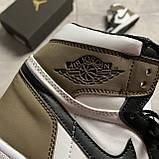Nike Air Jordan 1 Darck Mocha (Белый Коричневый), фото 7