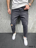 Мужские джинсы рваные МОМ 2Y Premium 5925-1 grey