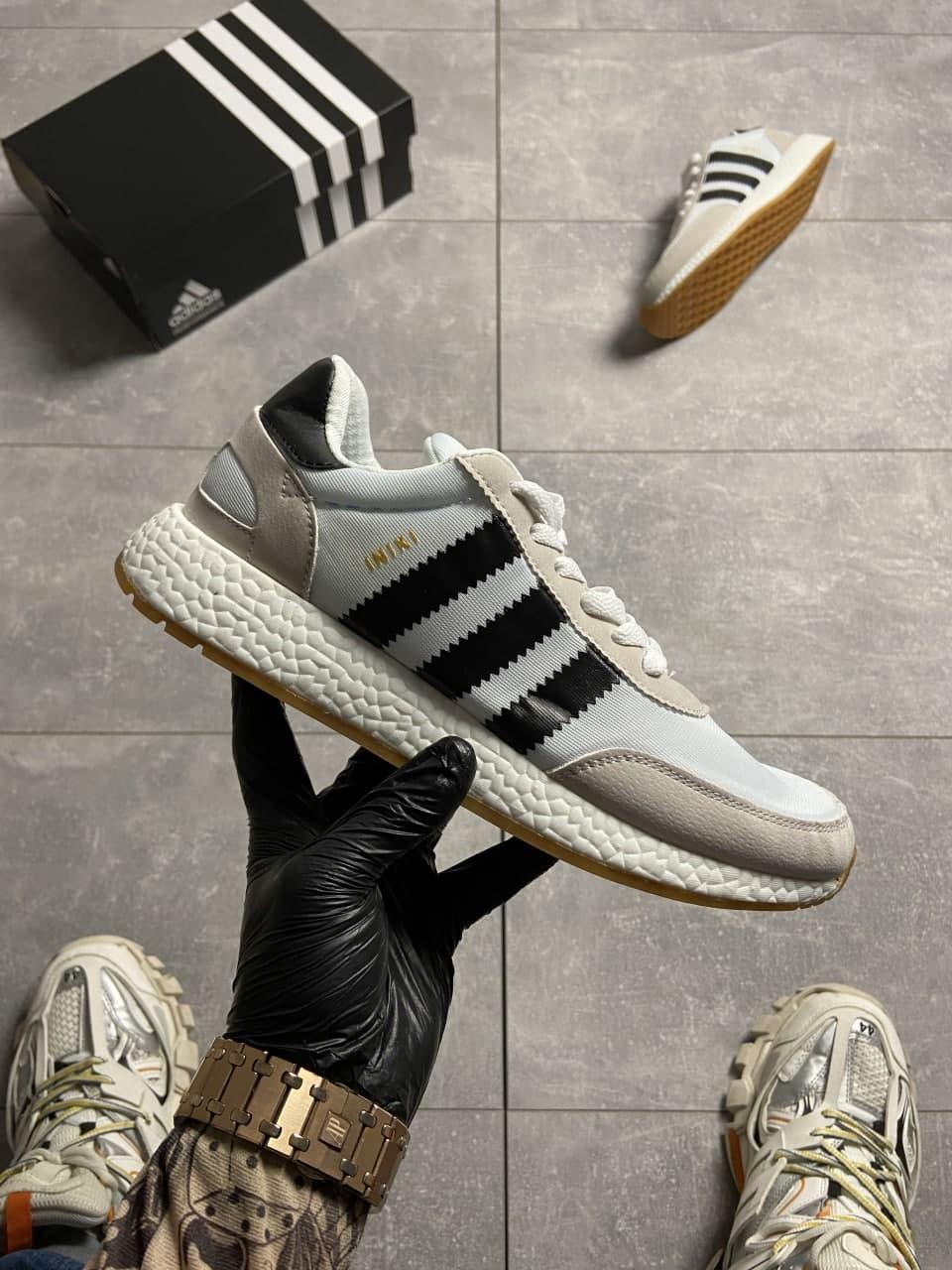 Adidas Iniki Grey White (Сірий)