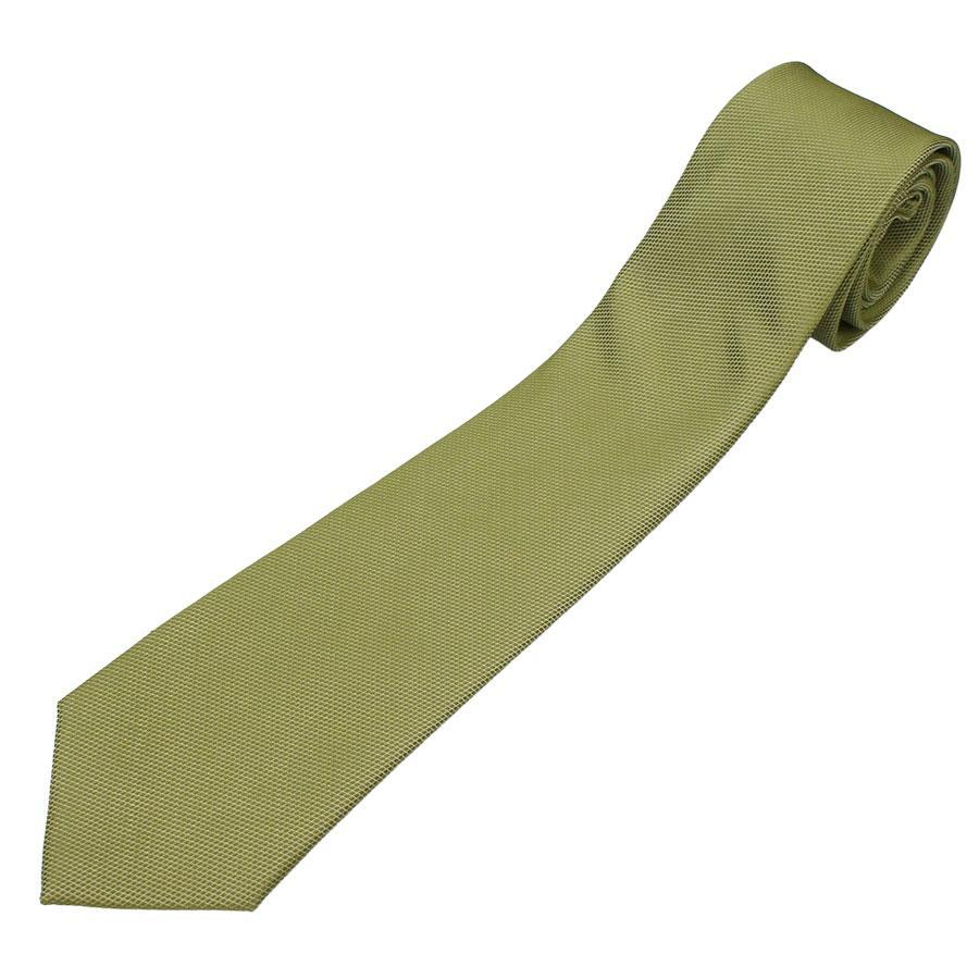 Однотонный мужской оливковый галстук Romendik cell-olive1