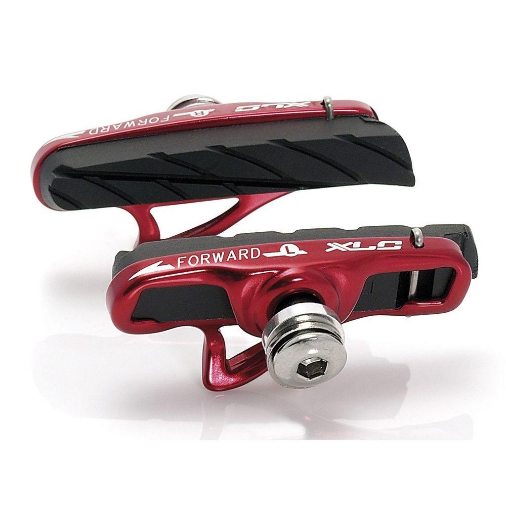 Гальмівні колодки V-Brake XLC BS-R06, 4 шт, шосе, картридж, чорно-червоні (ST)