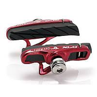 Тормозные колодки V-Brake XLC BS-R06, 4 шт, шоссе, картридж, черно-красные (ST)