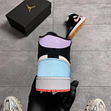 Nike Air Jordan 1 Retro Mid Multicolor (Чорний), фото 3