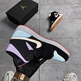 Nike Air Jordan 1 Retro Mid Multicolor (Чорний), фото 7