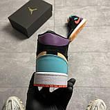 Nike Air Jordan 1 Retro Mid Multicolor (Чорний), фото 8