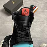 Nike Air Jordan 1 Retro Mid Multicolor (Чорний), фото 4