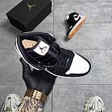 Nike Air Jordan 1 Retro Mid Multicolor (Чорний), фото 5