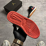 Nike Air Jordan 1 Retro Mid Multicolor (Чорний), фото 6