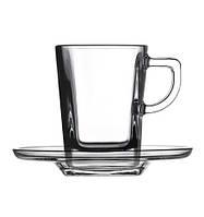 Набор чашек для кофе с блюдцем 72 мл (6 шт.) Carre 95754