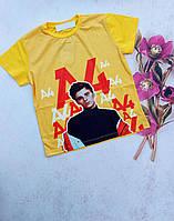 Подростковая футболка А4 для мальчика 6-14 лет,цвет уточняйте при заказе, фото 1