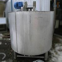 Мешалка промышленная: емкость 1000 литров, нержавеющая сталь, герметичный корпус