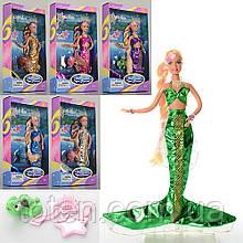 Кукла 29 см DEFA Русалочка 20983, меняет цвет волос, аксессуары, микс цветов