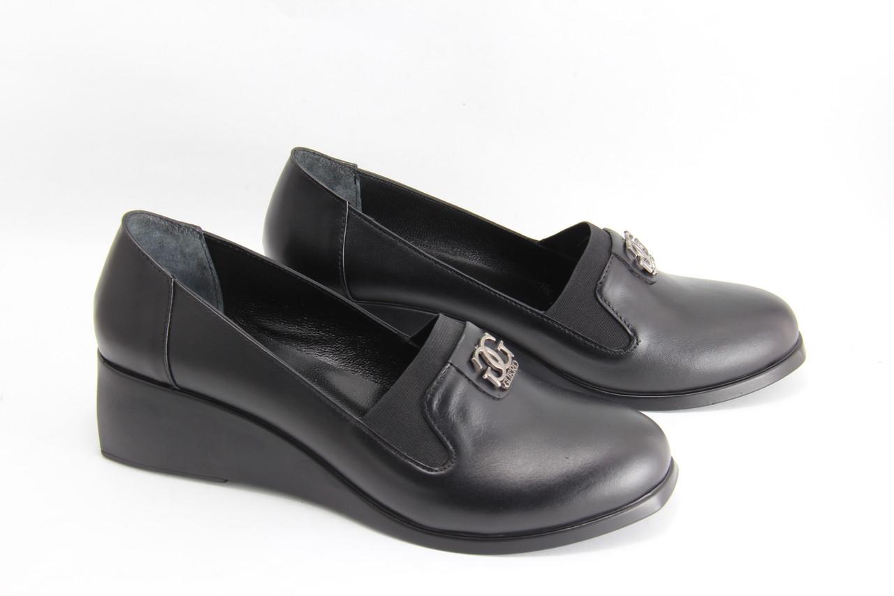 Туфлі жіночі на танкетці GUERO P006-423-SIYAH