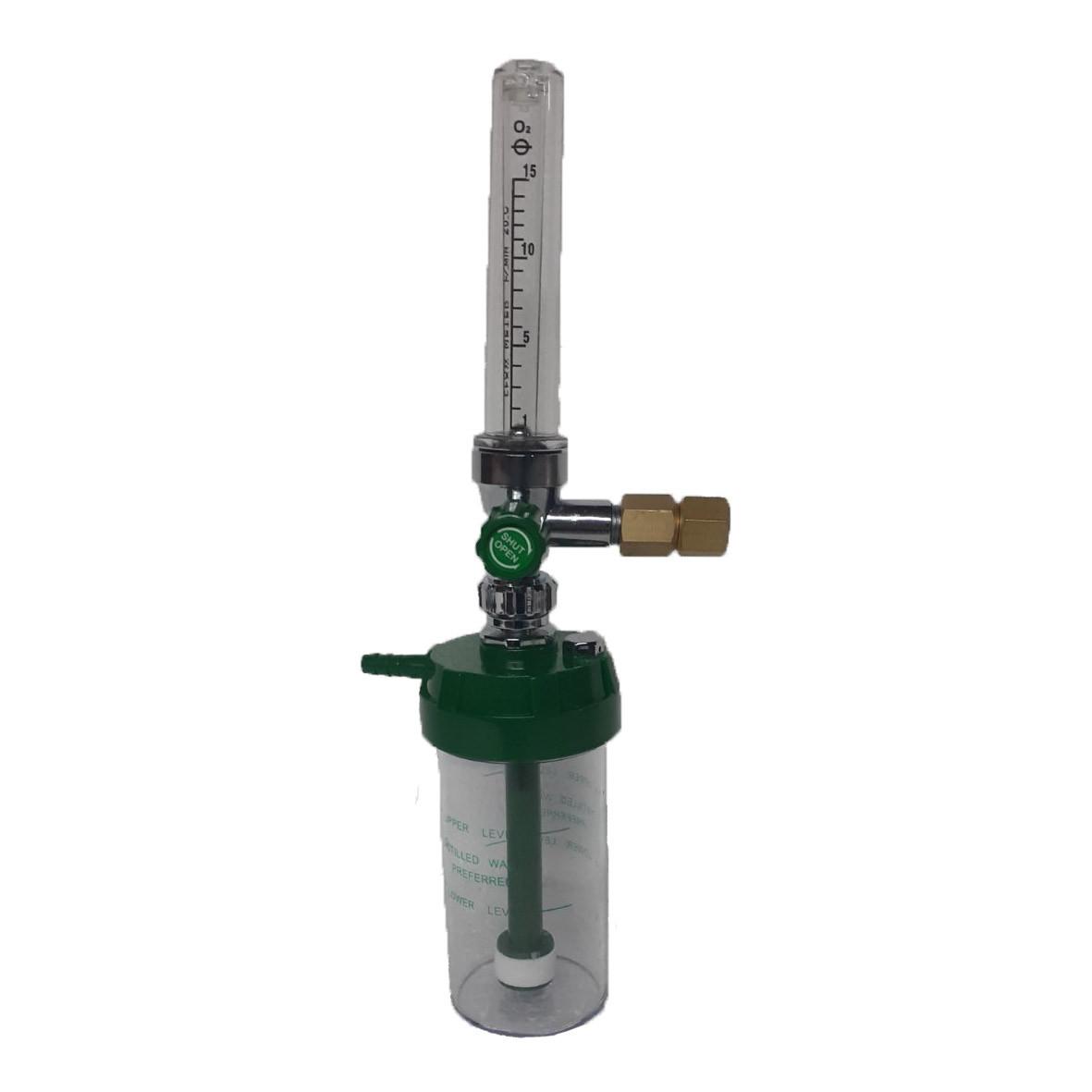 Зволожувач медичних газів з ротаметром 15л