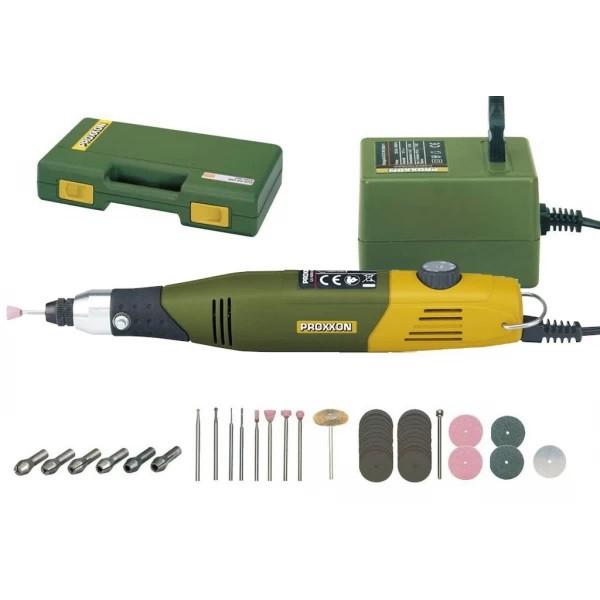 Набор моделиста Proxxon (Micromot 50/E, адаптер, 34 расходника, кейс) (28515)