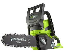 Цепная пила аккумуляторная Greenworks G24CS25K2 (24 В, 2 А*ч)