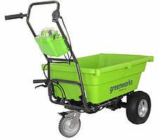 Садовая тележка самоходная аккумуляторная Greenworks G40GC (40 В, без АКБ, 106 л, 100 кг)