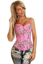 Розовый корсет с цветами