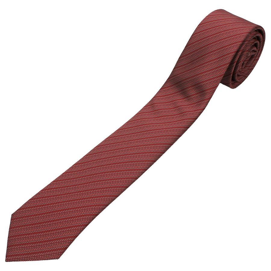 Краватка комбінована чоловіча в бордовому кольорі Pierre Cavelli SCompo-bordo5