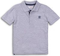 Детская серая футболка поло для мальчика 9-12, 12-18 мес