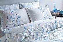 Комплект постельного белья Tac сатин Glow евро Crystal