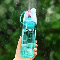 Спортивна пляшка для води з розпилювачем New blue B