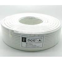 TV кабель 75 Ом DCG RG-6, white, 100м