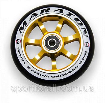 Колесо для трюкового самоката, алюміній Maraton 1шт 110 мм+abec 9