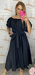 Черное длинное платье You&You 870938 Italy