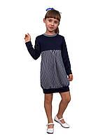 Платье  детское с длинным рукавом   М -1021  трикотажное. Рост 110.